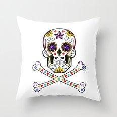Sugar Skull & Cross Bones Throw Pillow
