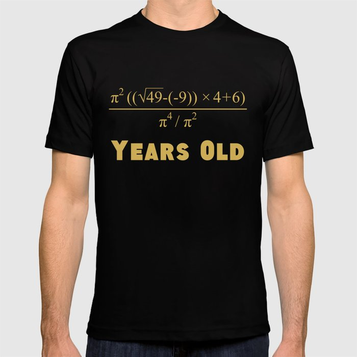70 Years Old Algebra Equation Funny 70th Birthday Math T Shirt By Awesomeart
