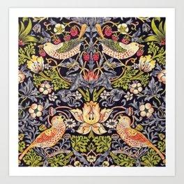 William Morris Strawberry Thief Art Nouveau Painting Art Print