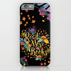 Read More Books - Black Floral Gold iPhone 6s Slim Case