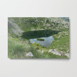 Mountain Spring Puddle Alpine Landscape Metal Print
