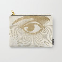 I See You. Vintage Gold Antique Paper Carry-All Pouch