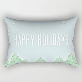 Happy Holiday Trees Rectangular Pillow