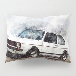 Golf I GTI White Pillow Sham