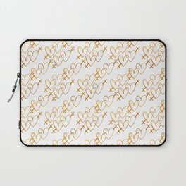Golden Pride - gold symbols on white - love is love - CELEBRATE! Laptop Sleeve