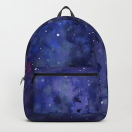 Night Sky Galaxy Nebula Stars Watercolor Space Texture Backpack