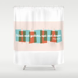 Strikes and Gutters Shower Curtain