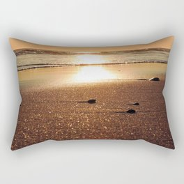 Sunset at Narragansett Beach Rectangular Pillow