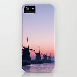 Windmills at Sunrise II iPhone Case