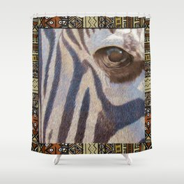Grants Zebra Shower Curtain