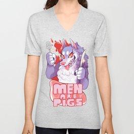 men are pigs Unisex V-Neck