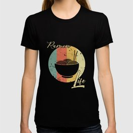 Ramen Life Japanese Noodles Vintage Retro Style Japan Japanese Food T-Shirt