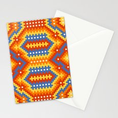 Woven Fabric Illusion On Printed Fabric Stationery Cards