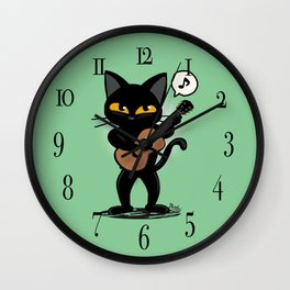 Cat guitar Wall Clock