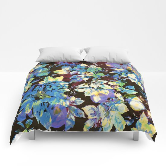multicolored floral Comforters