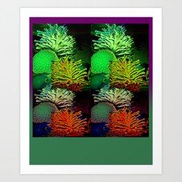 Coral Reef leggings green Art Print