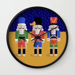 Christmas Nutcrackers Wall Clock