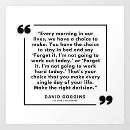 39  David Goggins Quotes | 190901 Art Print