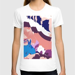 Blue bunny Meadows T-shirt