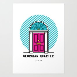 The Georgian Quarter Dublin Art Print