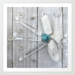 VivaLumi: Opal and Quartz Art Print