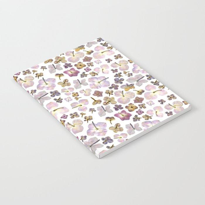 Scattered Hydrangea Notebook