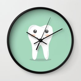 Big White Happy Tooth Wall Clock