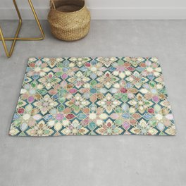 Muted Moroccan Mosaic Tiles Rug