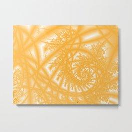Venetian Lace in Gold Metal Print