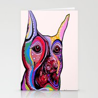 doberman Stationery Cards featuring Doberman by EloiseArt