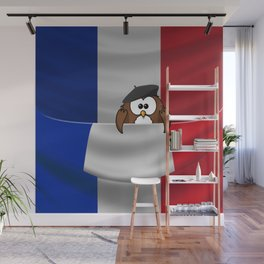 Frenchy owl Wall Mural