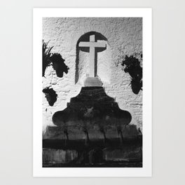 Cross at Night in Southern Spain Art Print