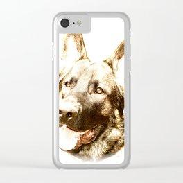 Happy Shepherd Clear iPhone Case