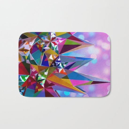 Festive colorful crystals Bath Mat