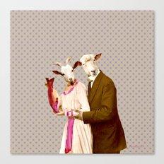 Mr & Ms Sheep Canvas Print