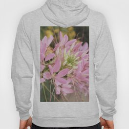 Pink Abstract Unique Flowers Hoody