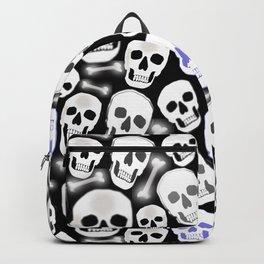 Small Tiled Skull Pattern Backpack