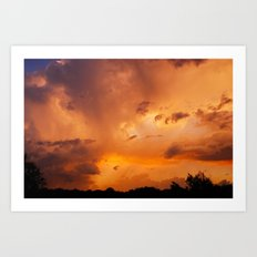 In the Middle of the Storm Art Print