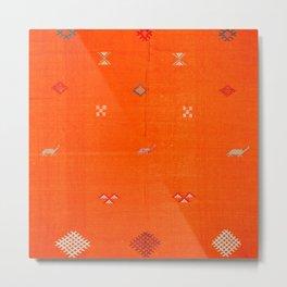 -A10- Traditional Anthropologie Moroccan orange Artwork. Metal Print