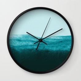 Aqua Watercolor Tide Wall Clock