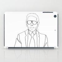 karl iPad Cases featuring Karl Lagerfeld portrait by Chiara Rigoni