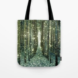 Magical Forest Old Money Green Tote Bag