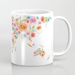 Watercolor Flower World Coffee Mug