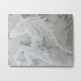 Cheval de rêve  Dream Horse  Original multi media painting by Tracy Sayers Trombetta Metal Print
