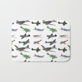 Multiple WW2 Airplanes Bath Mat