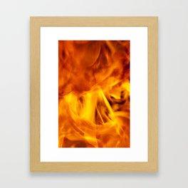 chaotic orange flames Framed Art Print