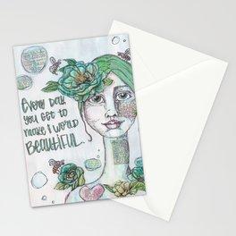 Make the World Beautiful Stationery Cards