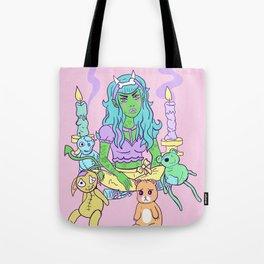 Pastel Goth Demon Girl Tote Bag