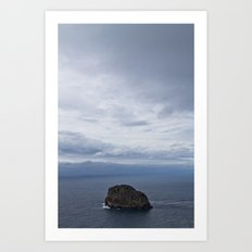 Lonely Stone Art Print
