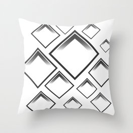 rhomboid shapes Throw Pillow
